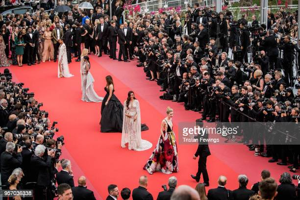 Aja Naomi King Thylane Blondeau Deepika Padukone and Amber Heard attend the screening of Sorry Angel during the 71st annual Cannes Film Festival at...