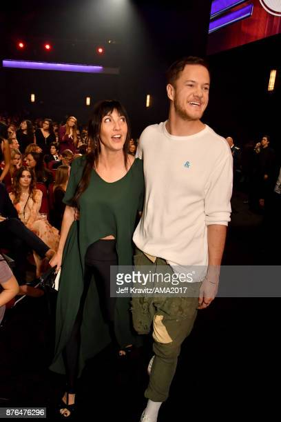 Aja Volkman and Dan Reynolds of Imagine Dragons during the 2017 American Music Awards at Microsoft Theater on November 19 2017 in Los Angeles...