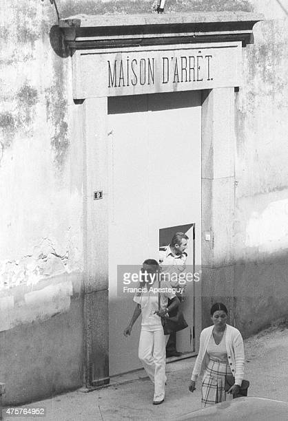 Ajaccio Corsica France 21 August 1978Marina Doria leaving the prison where her husband Victor Emmanuel of Savoy was being held in a French prison on...