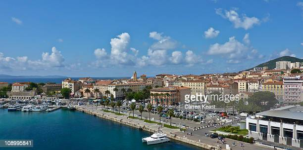 ajaccio from port, corsica, france. - ajaccio stock photos and pictures