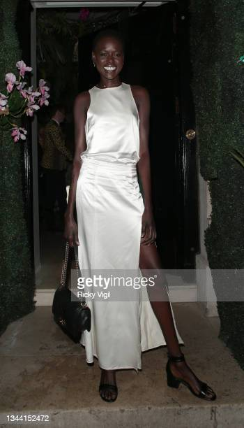 Ajak Deng seen attending Annabel's For The Amazon, a fundraising event at Annabel's to plant one million trees in the Amazon rainforest, in...