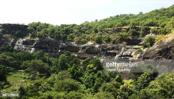 ajanta and ellora caves - ellora stock photos and pictures