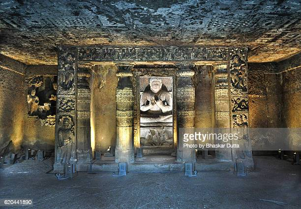 ajanta caves - antiquities stock pictures, royalty-free photos & images