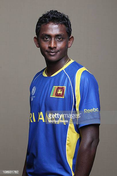 Ajantha Mendis of Sri Lanka ahead of the 2011 ICC World Cup at the Hilton Hotel on February 9 2011 in Colombo Sri Lanka
