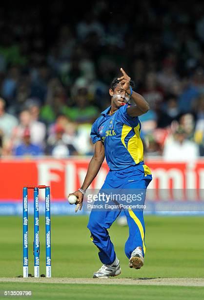 Ajantha Mendis of Sri Lanka bowling during the ICC World Twenty20 Final between Pakistan and Sri Lanka at Lord's London 21st June 2009 Pakistan won...