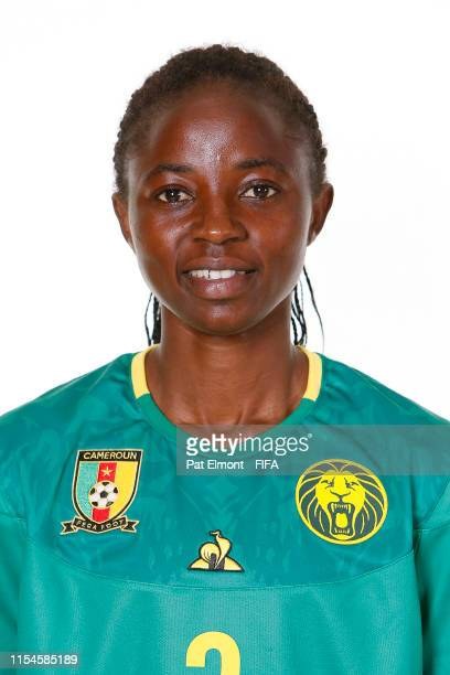 Ajara Nchout of Cameroon poses for a portrait during the official FIFA Women's World Cup 2019 portrait session at Crowne Plaza Montpellier Corum on...
