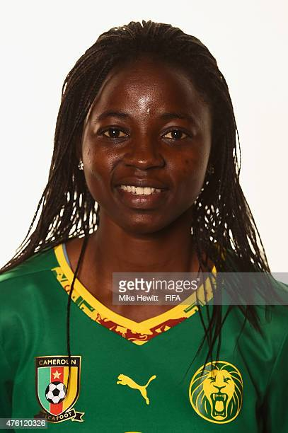Ajara Nchout of Cameroon poses for a portrait during the official Cameroon portrait session ahead of the FIFA Women's World Cup 2015 at the Sheraton...