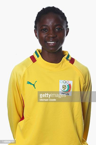 Ajara Nchout of the Cameroon Women's Olympic Football Team at the Hilton Hotel on July 21 2012 in Cardiff Wales