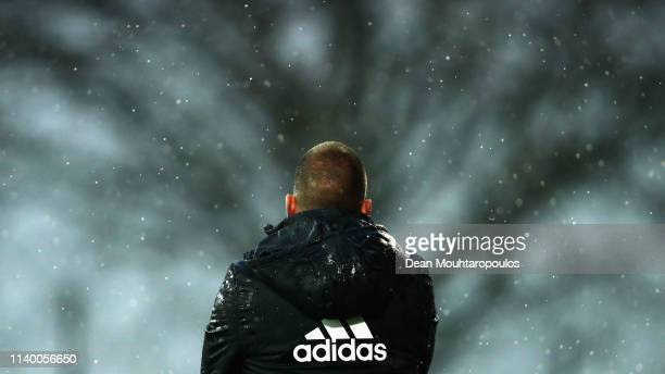 Ajax Coach John Heitinga looks on from the sidelines during the YOUTH CUP U19 between Ajax U19 and Excelsior U19 at Sportpark De Toekomst Johan...