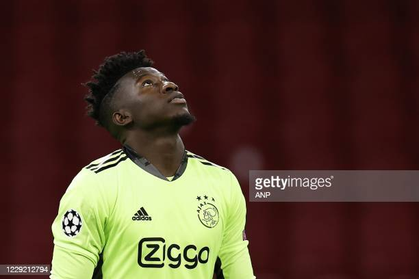 AMSTERDAM Ajax goalkeeper Andre Onana during the UEFA Champions League match in group D between Ajax Amsterdam and Liverpool FC at the Johan Cruijff...