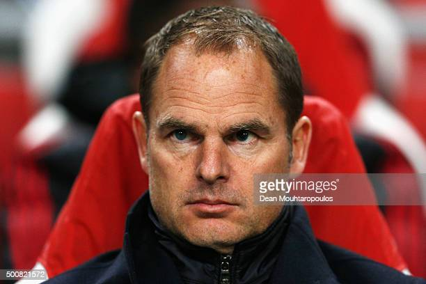 Ajax manager / head coach Frank de Boer looks on during the group A UEFA Europa League match between AFC Ajax and Molde FK held at Amsterdam Arena on...