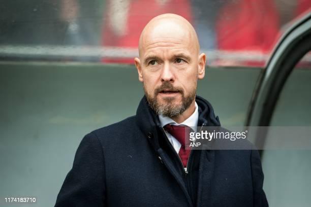 Ajax trainer / coach Erik ten Hag during the Dutch Eredivisie match between ADO Den Haag and Ajax Amsterdam at Cars Jeans stadium on October 06, 2019...