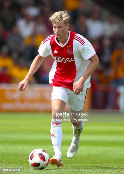 Ajax's Frenkie de Jong during a pre season friendly match at the Banks's Stadium Walsall