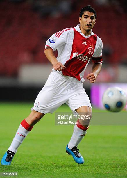 Ajax's Luis Suarez during the Amsterdam Tournament match between Ajax and Benfica at the Amsterdam Arena on July 26 2009 in Amsterdam Netherlands