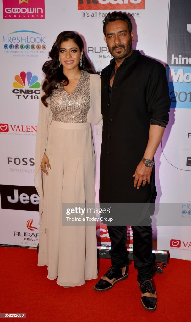 Ajay Devgan and Kajol at HT Most Stylish Awards 2017 in Mumbai