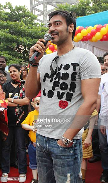 Ajay Devgan at a promotional event in Mumbai on December 13 2010