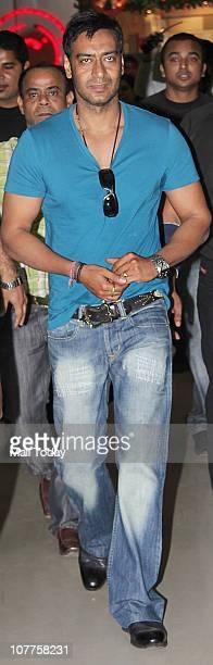 Ajay Devgan at a promotional event of his upcoming film Toonpur Ka Superhero on December 22 2010