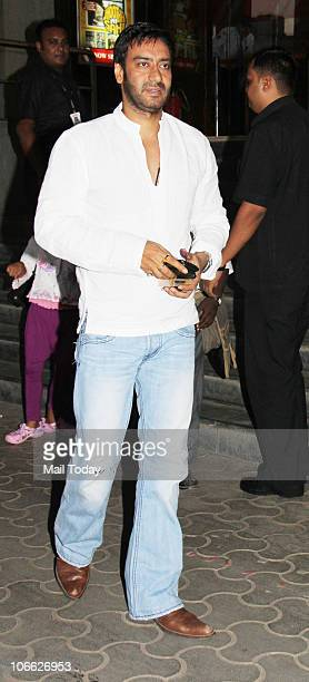 Ajay Devgan at a special screening of the film Golmaal 3 in Mumbai on November 4 2010