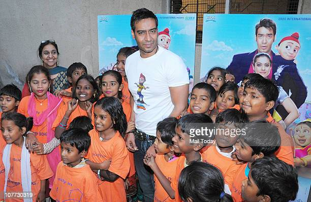 Ajay Devgan at an event to promote his latest film Toonpur Ka Superhero in Mumbai