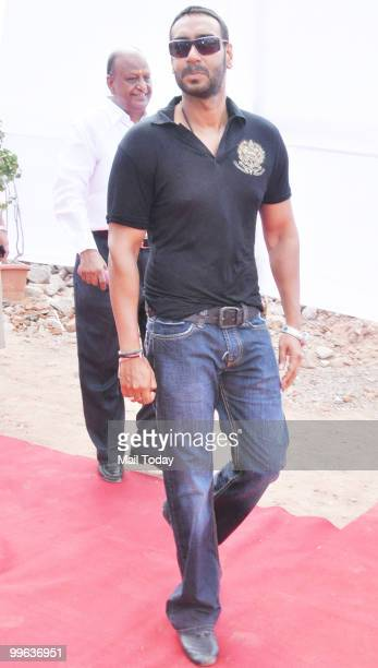 Ajay Devgan at the launch of a housing project in Mumbai on May 16 2010