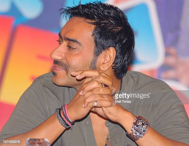 Ajay Devgan at the music launch of the movie 'Toonpur Ka Superhero' at Novatel Juhu on December 8 2010