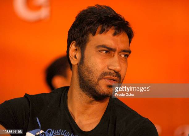 Ajay Devgan attends the press conference organised by Film Industry and Mumbai Police for the result of Supreme Court for Babri Masjid on September...