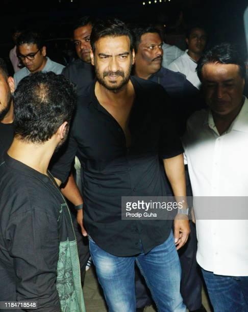 "Ajay Devgan attends the special screening of ""Ujda Chaman"" on October 31, 2019 in Mumbai, India."