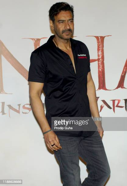 "Ajay Devgan attends the trailer launch of ""Tanhaji The Unsung Warrior"" on November 19, 2019 in Mumbai, India."