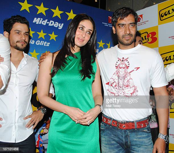 Ajay Devgan Kareena Kapoor and Kunal Khemu at Golmaal 3 success party in Mumbai on November 22 2010
