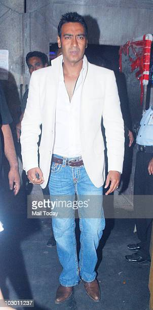 Ajay Devgan on the sets of Indian Idol 4 in Mumbai on July 20 2010