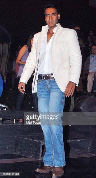 Ajay Devgan on the sets of Indian Idol 4 in Mumbai on July 20 2010