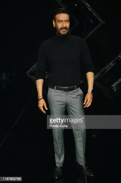 "Ajay Devgn attends the ""Tanhaji"" film Photocall at Dancs plus set,filmistan studio on January 06, 2020 in Mumbai, India"
