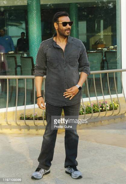 "Ajay Devgn attends the ""Tanhaji"" film Photocall on January 02,2020 in Mumbai, India"