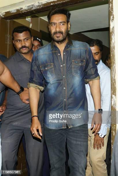 "Ajay Devgn attends the ""Tanhaji"" film Screening on January 09,2020 in Mumbai, India"