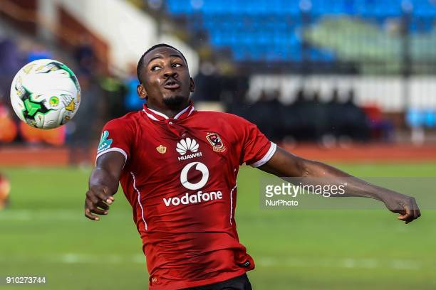Ajay Jr of Ahly Reacts during the Egypt Primer League Fixtures 20 Match Between AlAhly and AlRajaa in Alexandria Stadium on 25 January 2018 Al Ahli...