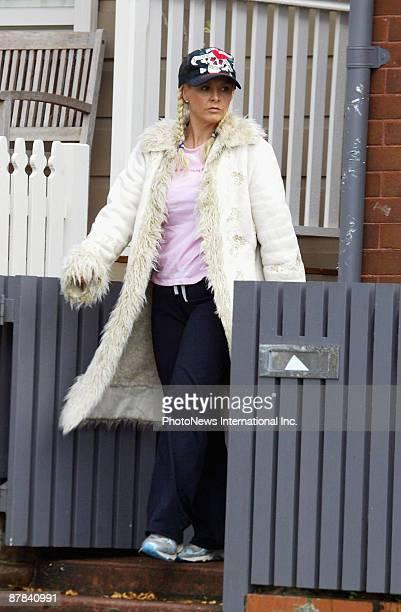 Ajay Rochester host of Australia's TV program 'The Biggest Loser' is seen outside her Sydney home on May 19 2009 in Sydney Australia Rochester's...