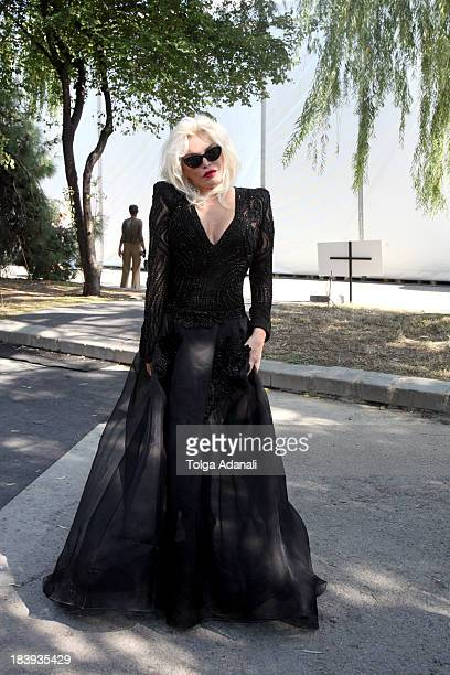 Ajda Pekkan attends MercedesBenz Fashion Week Istanbul s/s 2014 presented by American Express on October 10 2013 in Istanbul Turkey