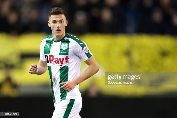 Ajdin Hrustic of FC Groningen during the Dutch Eredivisie match between Vitesse v FC Groningen at the GelreDome on February 2 2018 in Arnhem...