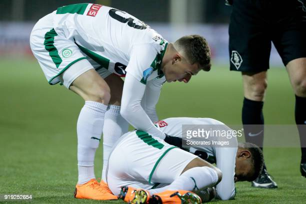 Ajdin Hrustic of FC Groningen Juninho Bacuna of FC Groningen during the Dutch Eredivisie match between VVVvVenlo FC Groningen at the Seacon Stadium...
