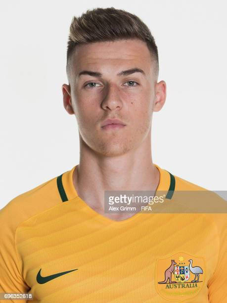 Ajdin Hrustic poses for a picture during the Australia team portrait session on June 15 2017 in Sochi Russia