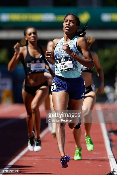 Ajee Wilson competes in the Women's 800 meter run during day one of the 2015 USA Outdoor Track Field Championships at Hayward Field on June 25 2015...