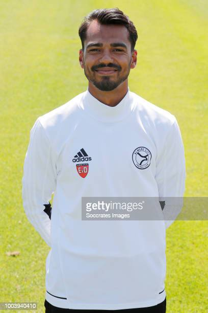 Ajey Raghosing of Almere City during the Photocall Almere City at the Yanmar Stadium on July 16 2018 in Almere Netherlands