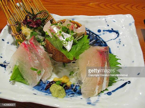 aji no tataki - trachurus stock pictures, royalty-free photos & images