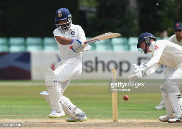 Ajinkya Rahane of India A bats during Day Three of the Tour Match between England Lions and India A at New Road on July 18 2018 in Worcester England