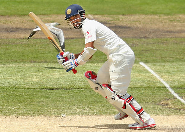 Ajinkya Rahane of India bats as a seagull flies plast him during day three of the Third Test match between Australia and India at Melbourne Cricket. A very underrated test match batsmen for India