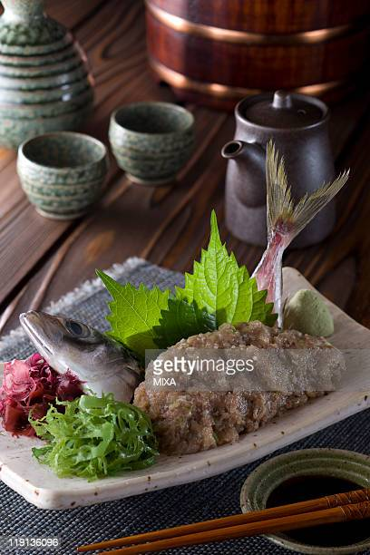 aji-no-namerou - trachurus japonicus stock pictures, royalty-free photos & images