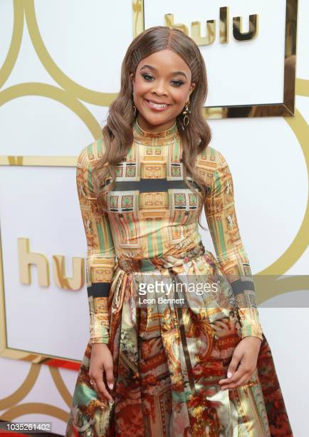 Ajiona Alexus attends Hulu's 2018 Emmy Party at Nomad Hotel Los Angeles on September 17 2018 in Los Angeles California