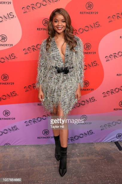 Ajiona Alexus attends Refinery29's 29Rooms Opening Night on September 5 2018 in Brooklyn New York