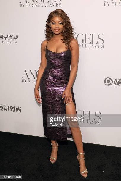 Ajiona Alexus attends Russell James' launch of his photobook and exhibition 'Angels' at Stephan Weiss Studio on September 6 2018 in New York City