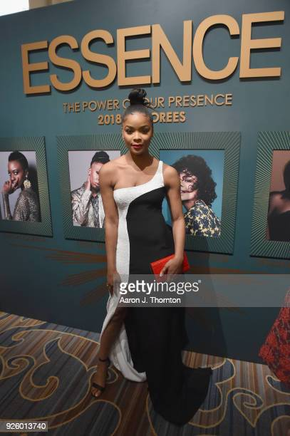 Ajiona Alexus attends the 2018 Essence Black Women In Hollywood Oscars Luncheon at Regent Beverly Wilshire Hotel on March 1 2018 in Beverly Hills...